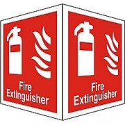 Unbranded Fire Extinguisher Sign Fire Extinguisher Plastic 15 x 20 cm