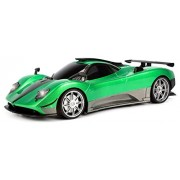 WFC Pagani Zonda R Rechargeable Remote Control RC Car 1:16 Scale Size Ready To Run w/ Bright LED Headlights (Colors May Vary)