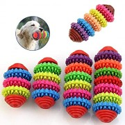Pets Dogs Puppy Colorful Rubber Dental Teething Healthy Teeth Gums Chew Toy