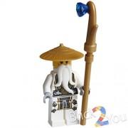 Lego Ninjago Master Wu (Battle Wu) Minifigure w/ Weapon 70738 Final Flight 70734 /item# G4W8B-48Q61504