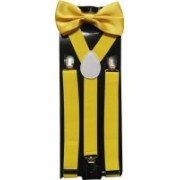 Mr. Willian Y- Back Suspenders for Men, Women(Yellow)