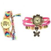 HATHI DORI + LITE PINK BUTTERFLY DORI SIGNATURE DESIGN COMBO WATCH