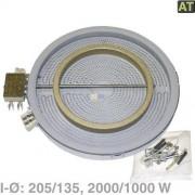 Ego, Imperial, Miele, Quelle, Privileg, Matura Foyer radiant Ø210/135 mm 2000/1000 W 230 V (foyer Highlight circuit double, commande à régulateur d'énergie) cuisinière