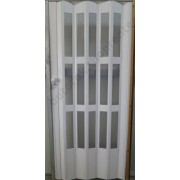 Kazettás harmonika ajtó, fehér