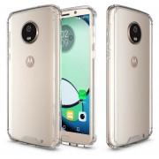 Para Motorola Moto G6 Plus Acrilico + TPU Resistente Armadura Protectora Transparente Volver Funda (transparente)