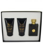 Versace Pour Homme Dylan Blue EDT Spray + After Shave Balm + Shower Gel Gift Set Men's Fragrances 538096