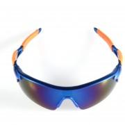 ER Deporte Ciclismo De Bicicletas Bike Riding UV400 De Protección Gafas De Sol Gafas Goggle Lentes Reflectantes Azules Caja Azul Naranja.