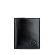 Leder Geldbörse mit Münzfach für Herren in Schwarz - Brieftasche, Portemonnaie, Geldbeutel, Kreditkartenetui