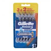 Gillette Sensor3 Comfort jednorázová holítka 5 ks pro muže