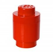 Lego Ladrillo Cilíndrico de almacenamiento LEGO (1 espiga) - Rojo