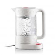 Bodum BISTRO Bouilloire électrique double paroi avec régulateur de température, 1.500 W, 1.1 l Blanc crème