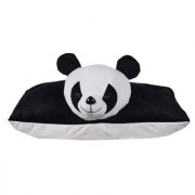 Ultra Folding Pillow Panda 17x13 Inches - Black & White