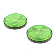 Electroprime® Green Round Reflectors Universal for Motorcycles ATV Bikes Dirt Bike