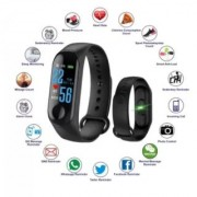 BSH Bluetooth M3 Fitness Band with Heart Rate sensor Smart Band and Fitness Tracker Black
