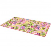 vidaXL Play Mat Loop Pile 190x290 cm Sweet Town Pattern