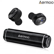Wireless Headsphones, AERMOO B2 Wireless Earbuds Bluetooth 4.2 TWS, Stereo Wireless Earphone In Ear with Portable Battery Charging Case and Built-in M