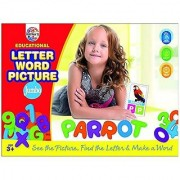Ratna's Toyztrend Educational Letter Word Picture Jumbo Size Alphabets & Numbers For Kids To See The Picture Find The Letter & Make The Word