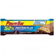 PowerBar Plus 52% Cookies & Cream 1x50g - Male - Geel / Blauw - Grootte: One Size