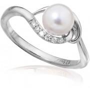 JVD Stříbrný prsten s pravou perlou SVLR0235SH8P1 53 mm