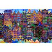 Werk aan de Muur Schilderij Amsterdam Abstract - Canvas - 60x40