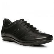 Geox Schuhe Herren, Glattleder, schwarz