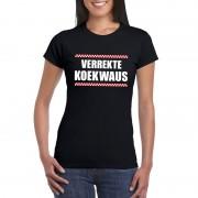 Bellatio Decorations Verrekte Koekwaus dames T-shirt zwart 2XL - Feestshirts