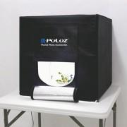 PULUZ Folding Portable 30W 3000LM Photo Lighting Studio Shooting Tent Box Kit with 3 Colors Backdrops (Black Yellow White) Size: 40cm x 40cm