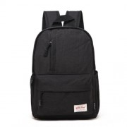 Universal Multi-Function Canvas Laptop Computer Shoulders Bag Leisurely Backpack Students Bag Big Size: 42x29x13cm For 15.6 inch and Below Macbook Samsung Lenovo Sony DELL Alienware CHUWI ASUS HP(Black)