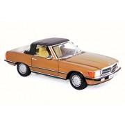 Norev 1986 Mercedes-Benz 300 SL Convertible, Gold Metallic - 183514 1/18 Scale Diecast Model Toy Car