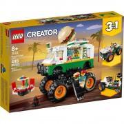 Lego set de construcción lego creator camioneta monstruo de hamburguesa 31104