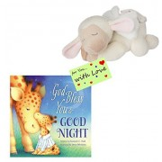 4 You with Love Baby Ganz Plush Musical Lamb W/Angel Wings Plays Jesus Loves Me W/God Bless and Good Night Book & Tag