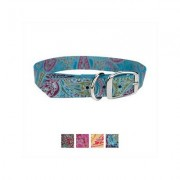 OmniPet Paisley Leather Dog Collar, Turquoise, 20-in