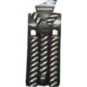 Mr. Willian Y- Back Suspenders for Men, Women(Black)