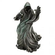 Design Toscano Estatua de jardín al Aire última intervensión con Soporte para Techo de Oso Negro, The Creeper: Escultura de Mesa, Piedra Gris, 1