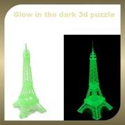 Nyrwana Glow in Dark Radium 3D Jigsaw Luminous Eiffel Tower Puzzle Educational Assembling Toys