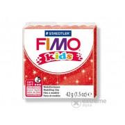 Pasta plastelina Fimo Kids, rosu cu sclipici (42g)