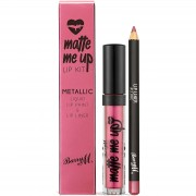Barry M Cosmetics Matte Me Up Metallic Lip Kit (Various Shades) - Allure