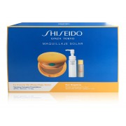 SHISEIDO TANNING COMPACT FOUNDATION SPF6 BRONZE SET+PERFECT CLEANING OIL40ML+SPORTS BB SPF 50 MEDIUM 7 ML