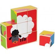 Hape-Wooden Farm Animals Block Puzzle