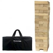 EasyGO EasyGO Large Stack & Tumble Giant Wood Stacking & Tumble Tower Blocks Game Stacks to Over 4 Feet Tall!