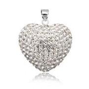 Stříbrný přívěsek srdce 3D