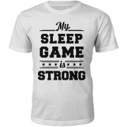 The Slogan Collection Camiseta My Sleep Game Is Strong - Hombre - Blanco - XL - Blanco