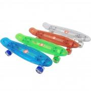 Skateboardul ABS (penny board pennyboard) 22″ (56 cm.) cu roti iluminate si placa LED