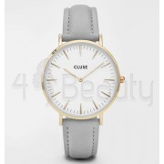 Дамски часовник CLUSE CL18414 La Bohème Gold White/Grey