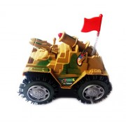 Foreign Holics Unstoppable Tumbling Tank Moving Red Flashing Top Light (Multicolored)