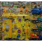 Építkezős műanyag autó szett gyerek játék - JS Truck