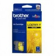 Brother Lc-67y Yellow Ink Cart Hi Yield