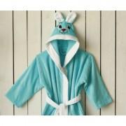 "Детски халат с ушички ""Light Blue"" - 100% Памук"