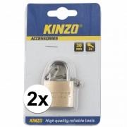 Kinzo 2x hangslot 30mm - Action products