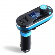 Modulator FM MP3 Auto cu afisaj LCD, 2x USB, Bluetooth, Slot SD + Cablu Audio Jack, Telecomanda si microfon incorporat